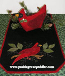 Prairie Grove Peddler, The Table Toppers-Winter Cardinal(Wool) 15x36