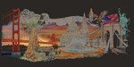 "GOK544B  Thea Gouverneur Kit America 31"" x 20""; Aida; 18ct"