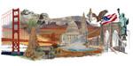 "GOK544  Thea Gouverneur Kit America 31"" x 20""; Linen; 36CT"