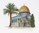 "GOK535  Thea Gouverneur Kit Dome of the Rock 11"" x 9""; Linen; 36ct"
