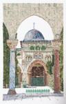 "GOK534 Thea Gouverneur Kit Al-Aqsa Mosque 7"" x 11""; Linen; 36ct"