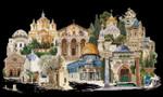 """GOK533B Thea Gouverneur Kit Jerusalem 32"""" x 20""""; Aida; 18ct"""
