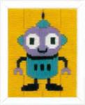 """PNV153810 Vervaco Robot 5"""" x 6.4""""; Canvas"""