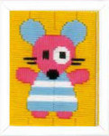 "PNV153814  Vervaco Kit Mouse 5"" x 6.4""; Canvas"