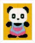 "PNV154220 Vervaco Long Stitch Kit Panda 5"" x 6""; Canvas"