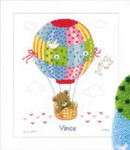 "PNV147916 Vervaco Kit Hot Air Ballon 10"" x 12""; Aida; 14ct"