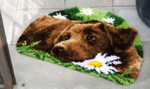"PNV153852  Vervaco Kit Chocolate Labrador Rug 21"" x 15.6""; Canvas"