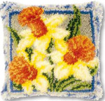 "PNV149783 Vervaco Kit Daffodils Cushion 16"" x 16""; Canvas"