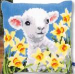 "PNV148423 Vervaco Kit Lamb Cushion 16"" x 16""; Canvas"