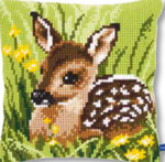 "PNV150673 Vervaco Kit Little Deer Cushion 16"" x 16""; Canvas"