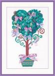 "RL1462 Riolis Cross Stitch Kit Tree of Desires 8.25"" x 11.75""; Aida; 14ct"