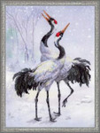 "RLPT0028 Riolis Cross Stitch Kit Cranes 11.75"" x 11.75""; Aida; 14ct"