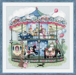 "RL1458 Riolis Cross Stitch Kit Carousel 13.75"" x 13.75""; Aida; 14ct"