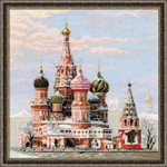 "RL1260 Riolis Cross Stitch Kit Moscow St. Basil's Cathedral 16"" x 16""; Aida; 14ct"