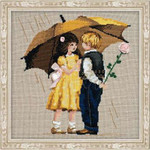 "RL1173 Riolis Cross Stitch Kit First Date 12"" x 12""; Aida; 14ct"