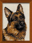 "RL1068 Riolis Cross Stitch Kit German Shepard 9.5"" x 12""; Aida; 10ct"