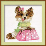 "RL1067 Riolis Cross Stitch Kit Chihuahua 10"" x 10""; Aida; 14ct"