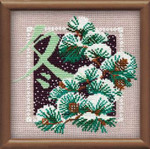 "RL814 Riolis Cross Stitch Kit Winter 8"" x 8""; Aida; 15ct"