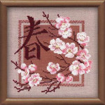 "RL812 Riolis Cross Stitch Kit Spring  8"" x 8""; Aida; 15ct"