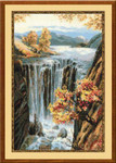 "RL974 Riolis Cross Stitch Kit Waterfall 12"" x 23""; Aida; 10ct"