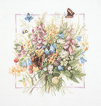 "PN144527 Lanarte Kit Summer Bouquet  by Marjolein Bastin 14"" x 15""; Evenweave; 27ct"
