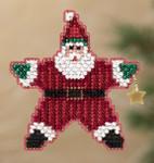 MH181301 Mill Hill Santa Ornament Kit Star Santa (2011)