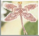 MHDF5 Mill Hill Seasonal Ornament / Pin Kit Rose Dragonfly (2000)