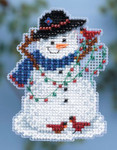MH184301 Mill Hill Seasonal Ornament Kit Snow Fun (2014)