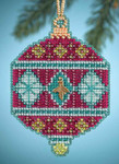 MH164305 Mill Hill Charmed Ornament Kit Berry (2014)