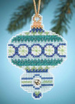 MH164302 Mill Hill Charmed Ornament Kit Blue Topaz (2014)
