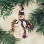 MHSC27 Mill Hill Charmed Ornament Kit Stocking Snow Charmer (2001)