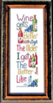 Aged Wine Stitch Count 140 x 44 Bobbie G Designs