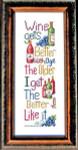 10-1046 Aged Wine Stitch Count 140 x 44 Bobbie G Designs YT