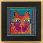 LB305111  Mill Hill Laurel Burch Wild Orange Cat - Cats Collection