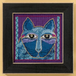 LB305112 Mill Hill Laurel Burch Wild Blue Cat - Cats Collection
