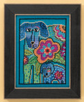 LB301616 Mill Hill Laurel Burch Petunia & Rose -  Dogs Collection (Linen)