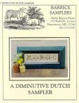Carriage House Samplings Diminutive Dutch