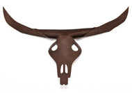 'Bison' leather stag head skull