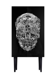 Sanctuary Skull Tall Cabinet