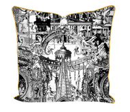 Sanctuary Skull printed Satin Cushion