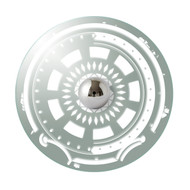 Gambling Skull Etched Mirror Wall Light