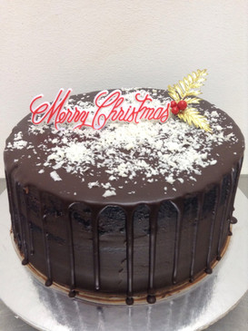 Naked Christmas Mud Cake