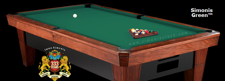 Simonis 860 billiard cloth 10 foot cut with bed and rails for 10 foot billiard table