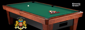 Simonis 860 Billiard Cloth, 10 foot cut with bed and rails