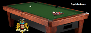 Simonis 4000 Snooker Cloth, 10 foot cut with bed and rails