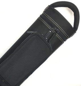 Dynamite Rugged 4x8 black with tan stitching, tan interior, 2 oversize pockets, top handle