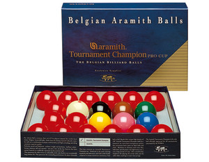"Aramith Tournament 2 1/8"" English Snooker Set, No Numbers"