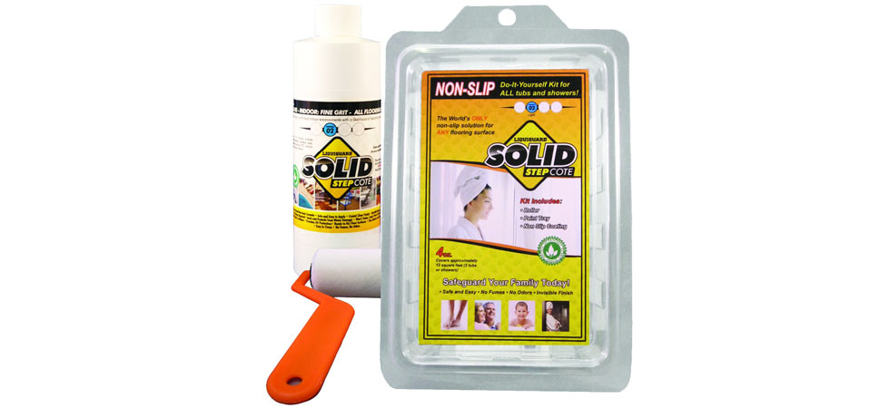 Paint on non slip bathtub kit