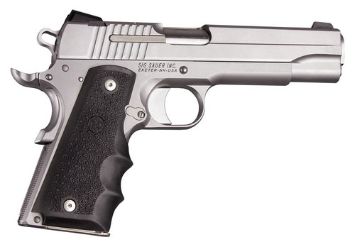 Hogue Colt 1911 Government Model Black Rubber Grip With Finger Grooves 45000 0743108450000 Panels Universal