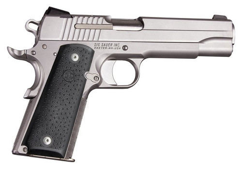 Hogue COLT 1911 Government Model Black Rubber Panels With Palm Sweells 45090 0743108450901 .45ACP .45 45 ACP